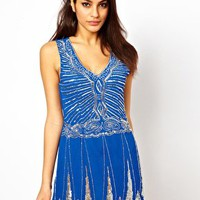 TFNC Deco Embellished Dress With Drop Waist at asos.com