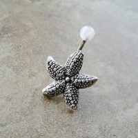 Starfish Belly Button Ring Jewelry by CuteBellyRings on Etsy