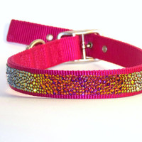 Custom Swarovski Crystal Pet Collar - Medium - MADE TO ORDER