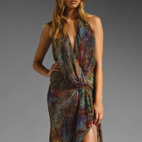 Haute Hippie Halter Gown W/ Cascading Ruffle in Multi from REVOLVEclothing.com