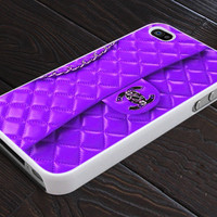 Chanel Purple Wallet - Print On Hard Cover - For iPhone 4, 4S, and iPhone 5 Case - Black, Clear, and White