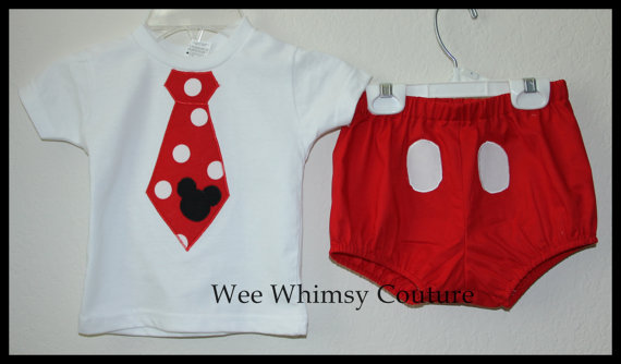 Boys Tie Tee and Mickey
