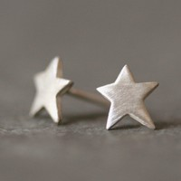 Star Stud Earrings in Sterling Silver