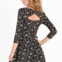 Bella Luna Floral Cutout Dress - $36.00 : ThreadSence.com, Your Spot For Indie Clothing & Indie Urban Culture
