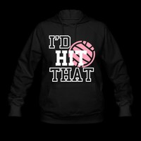 I&#x27;d Hit That Volleyball Hoodie | Spreadshirt | ID: 5327253