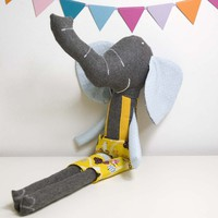 Ludovico The Soft Toy Elephant - Blue And Yellow | Luulla