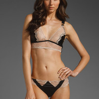 STELLA MCCARTNEY LINGERIE Selma Dancing Soft Cup Bra in Black and Flesh at Revolve Clothing - Free Shipping!