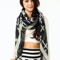 cross-print-scarf BLACKIVORY - GoJane.com
