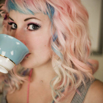 Hot Girls Drinking Tea - vintagecoats: She?s drinking tea, and her hair...