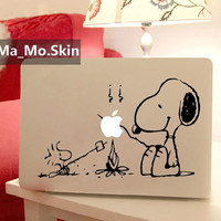 SnoopyMacbook Decals Macbook Stickers Mac Cover by MaMoLIMITED