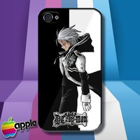 D Gray Man Allen Walker Black and White iPhone 4 or iPhone 4S case Cover
