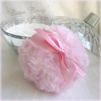 Powder Puff - Cotton Candy Pink - Bath Pouf - Handmade | Luulla