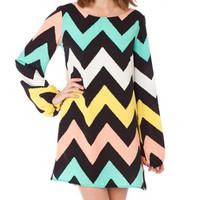 Pretty Chevron Zig Zag Dress