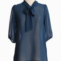 Heathrow Calling Blouse In Navy | Modern Vintage New Arrivals