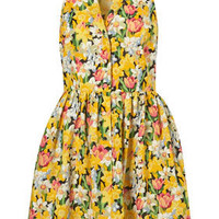 Spring Daffodil Shirtdress
