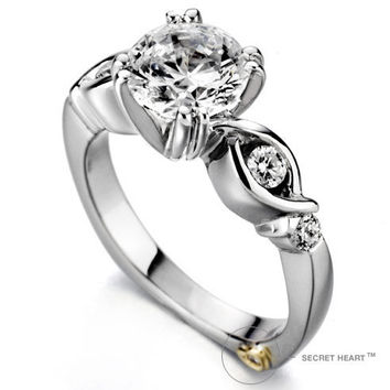 engagement ring love knot mark from