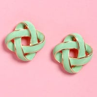 Feeling Loopy Mint and Gold Earrings