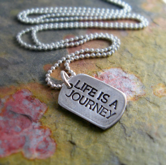 life is a journey silver necklace from newhopebeading on etsy