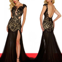 Black OR Red Long Lace P...