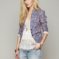 Free People Printed Blazer