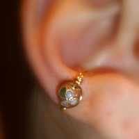 Ear Cuff- Gold Laced Flower