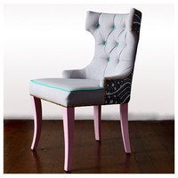 T-Shaped Tufted Back Dining Chair  Heima Store