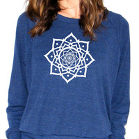 Lotus - American Apparel Raglan Pullover - Small, Medium, Large