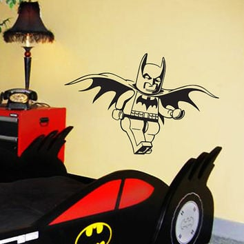 Lego Batman, Lego, Gotham City, wall decal, boys room decor, superhero decal, vinyl decal, wall art, wall sticker, by Otrengraving on Etsy