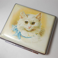 Dorothy Travers Pope Cats Cigarette Case Card Holder by ArtTasty