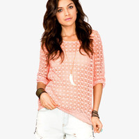 Open Knit Crochet Top