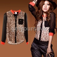 New Fashion Women Leopar...