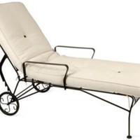 One Kings Lane - Kimba Hills, rumba - Iron Chaise Longue