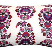 One Kings Lane - The Bright Stuff - Meena 14x20 Pillow, Plum
