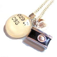 Dewey Decimal Photographer&#x27;s Necklace  Opera Length by writtennerd