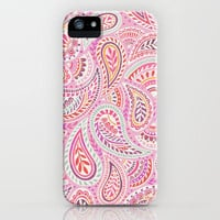 Pink Paisley iPhone Case by Janet Broxon | Society6