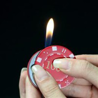 Wholesale Pemrunup Fashionable Casino Poker Chip Butane Lighter - DinoDirect.com