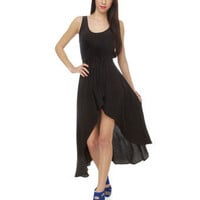 Lucy Love Vineyard Dress - Black Dress - High-Low Dress - $88.00