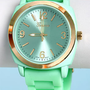 Jelly Bean Soft Mint Green Watch