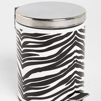 Zebra Step Trash Can
