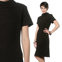 Mod Shift Dress Dress 60s Mini Brown Sixties 1960s by oldage