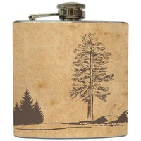 Liquid Courage Flasks: &quot;Rustic Landscape&quot; - Camping Flask