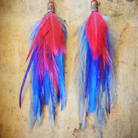 SALE: Pi Phi Love And Mine Feather Earrings