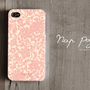 Apple iphone case for iphone iphone 5 iphone 4 iphone 4s iPhone 3Gs  : Abstract pink flower