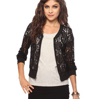 Sheer Lace Jacket | FOREVER21 - 2015035051