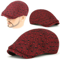 Newsboy Beret DBW RED black Cabbie Golf GATSBY Flat CAP Fashion Hunting Hat on eBay!