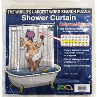 Big Mouth Toys The World's Largest Word Search Puzzle Shower Curtain