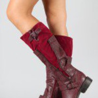 Breckelle Reno-15 Zipper Riding Knee High Boot