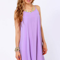 A Kiss For Luck Lavender Midi Dress