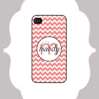 iPhone Case - Chevron Monogram -iPhone 4/4s Case, iPhone 5 Case, Monogram Case, Personalized iPhone Case