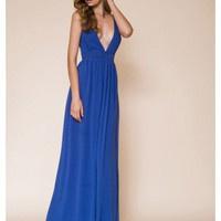 KEEPSAKE Bye Bye Baby Maxi Dress COBALT #105